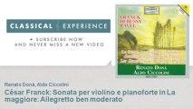 César Franck : César Franck : Sonata per violino e pianoforte in La maggiore : Allegretto ben mode