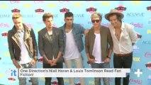 One Direction's Niall Horan & Louis Tomlinson Read Fan Fiction!