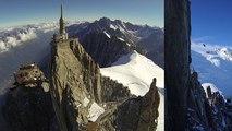 Aiguille du Midi Base Jump Wingsuit Valery Rozov Chamonix Mont-Blanc massif