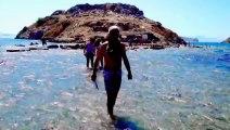 Gümüşlük, Bodrum, Kadı kalesine denizden yürüyüş,,,