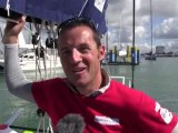 François Gabart and Michel Desjoyeaux win the Fastnet Race 2013 in the Imoca Class