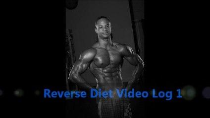 Julian Brown PNBA Pro Natural Bodybuilder Reverse Diet Log 1