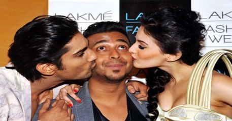 Prateik Babbar & Amyra Dastur Kisses designer Ken Ferns At  Ramp