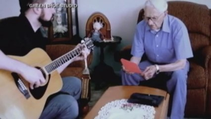 96-year-old records tribute to wife