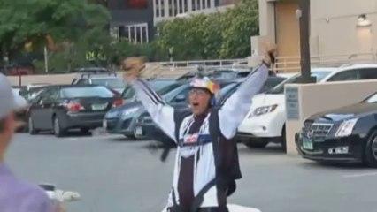 BASE jumpers leap off Denver hotel