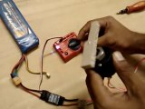 DC Motor Speed (150 RPM) with speed controller setup