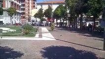 Aversa (CE) - Piazza Vittorio Emanuele, la fontana nel degrado (03.09.13)