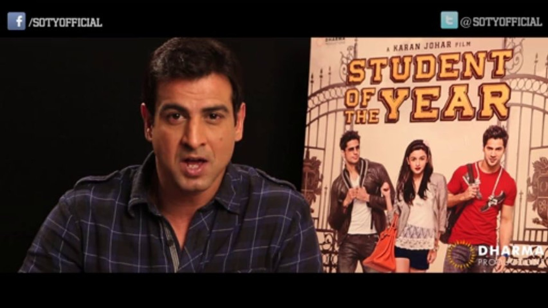 Ronit Roy's Invite - facebook.com/SOTYOfficial - Student Of The Year | HQ
