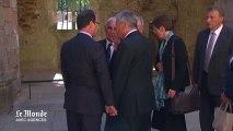 A Oradour-sur-Glane, François Hollande main dans la main avec Joachim Gauck
