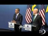 Siria, Obama: contro armi chimiche non ho deciso io, ma il mondo. Il presidente Usa da Stoccolma: spero che Putin cambi idea