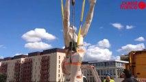 L'Envol - L'arrivée de la statue de L'Envol