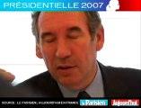 Présidentielle 2007 - Bayrou face aux lecteurs du Parisien: Son premier ministre idéal