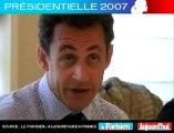 Présidentielle 2007 - Sarkozy face aux lecteurs du Parisien : Pensez-vous être contre Bayrou au deuxième tour ?