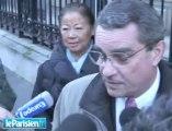 """Mariage Sarkozy-Bruni : elle portait une robe blanche"""""""