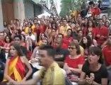 A Paris, les supporters espagnols en délire