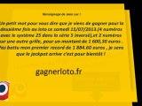 Vendredi 13 Super LOTO du vendredi 13 septembre Jackpot de 13 Millions €