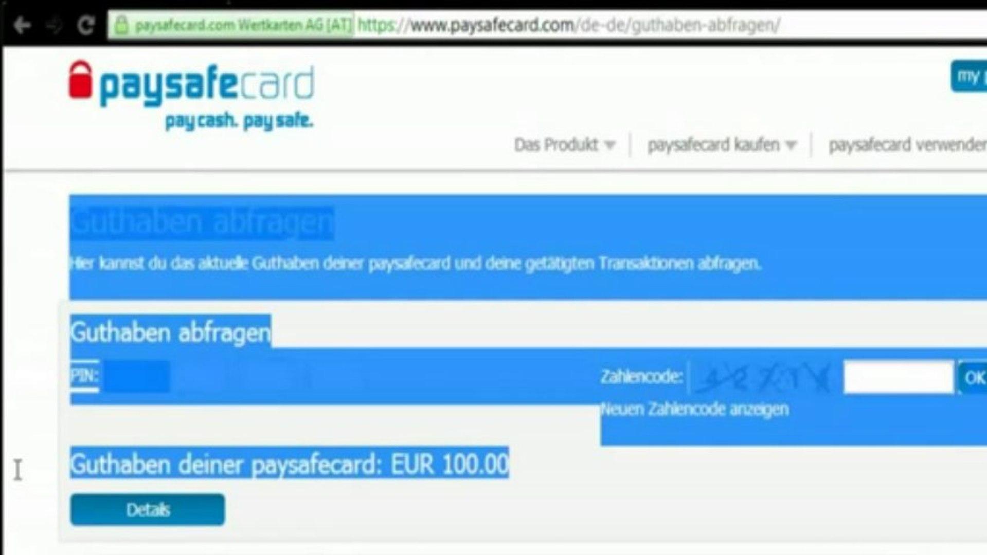 Paysafecard Guthaben Check