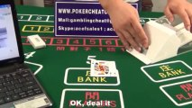 Baccarat cheating device|Blackjack cheating device|Cheating poker shoe|Pin hole cam lens system|Second playing card deal shoe