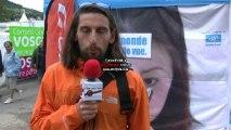 INFERNAL TRAIL : Stéphane Brogniart félicite JP Grunewald