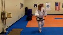 Board breaking - 11 Board Break Stepping Side Kick - ITF Taekwondo Sidekick Power Breaking