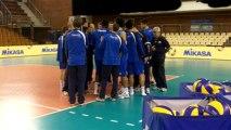 L'entraînement de l'équipe de France de volley-ball à Tourcoing
