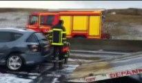 Accidents en chaîne sur l'A16 à Neufchatel-Hardelot : une quinzaine de véhicules piégés par la grêle