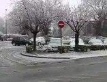 Flandre: la neige s'invite le jour du printemps