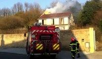 Incendie rue Voltaire à Saint-Martin-Boulogne