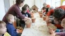 Merville: atelier de confection de gîtes à insectes, à la médiathèque