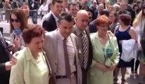 Boulogne-sur-Mer : Lionel et Stéphane, premier couple homo marié de la région, avec leurs mamans, juste avant la cérémonie