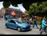 Feignies: les salariés de Sambre et Meuse manifestent dans la rue