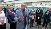 Manifestation de soutien au maire de Marly Fabien Thiémé après les tags injurieux