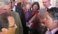 François Hollande s'entretient avec Olivier Leprêtre