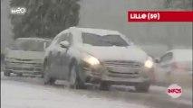 Neige et bouchons en série sur les routes du Nord-Pas-de-Calais
