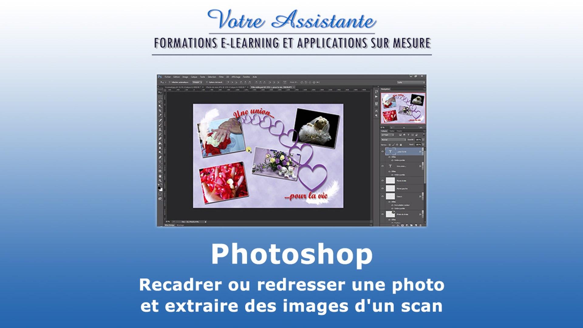 Recadrer Ou Redresser Une Photo Et Extraire Des Images Dun Scan Avec Photoshop