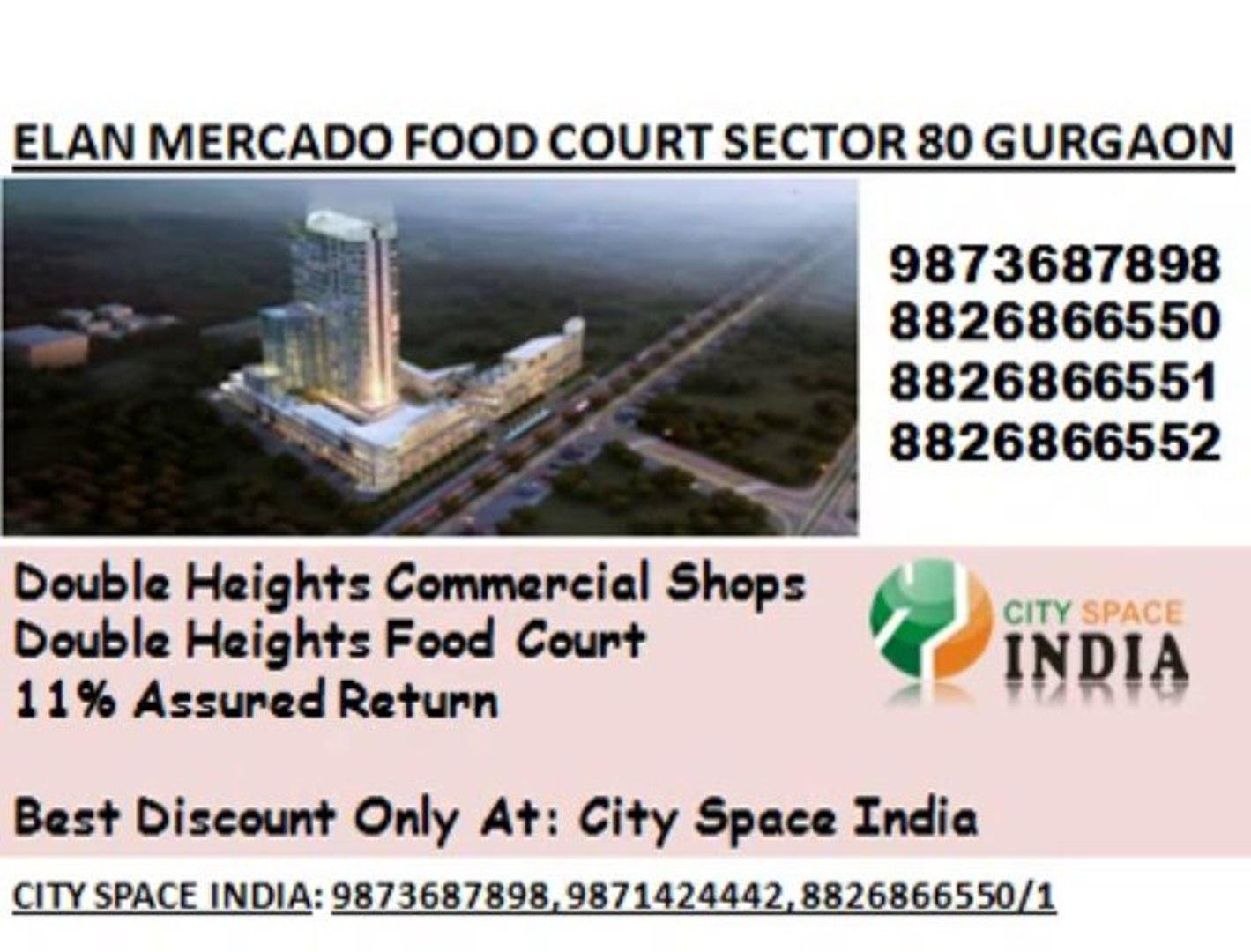 DIRECT BOOKING@  8447070834  ELAN FOOD COURT  GET SMALL SHOP