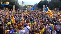 Espagne : pour l'indépendance, une impressionnante chaîne humaine traverse la Catalogne - 11/09