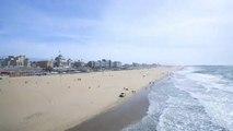 Scheveningen Beach, The Hague. Holland, Netherlands. Time lapse. June 2012