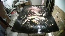 l'Atelier de Rick  . Art abstrait ....... Peinture et Musique