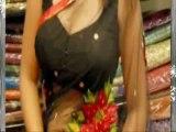Richa Gangopadhyay HOT NaveL in Transparent Black Saree