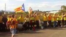 Catalogne : une chaîne humaine pour réclamer l'indépendance