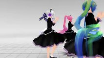 【MMD】 Pyromania 【TDA Miku + TDA Haku + TDA Luka - Gothic】