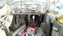 Deuxième station glace depuis le début de l'expédition Tara Oceans Polar Circle © V.Hilaire/francetv nouvelles écritures/Thalassa/Tara Expéditions