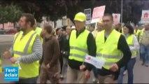 Les artisans du bâtiment manifestent à Troyes