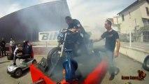 Moto Axxe : Machine à burn Team Tabaz (Moto Axxe Grenoble 2012)