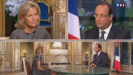 Silences : François Hollande / JT TF1 / 15/09/2013