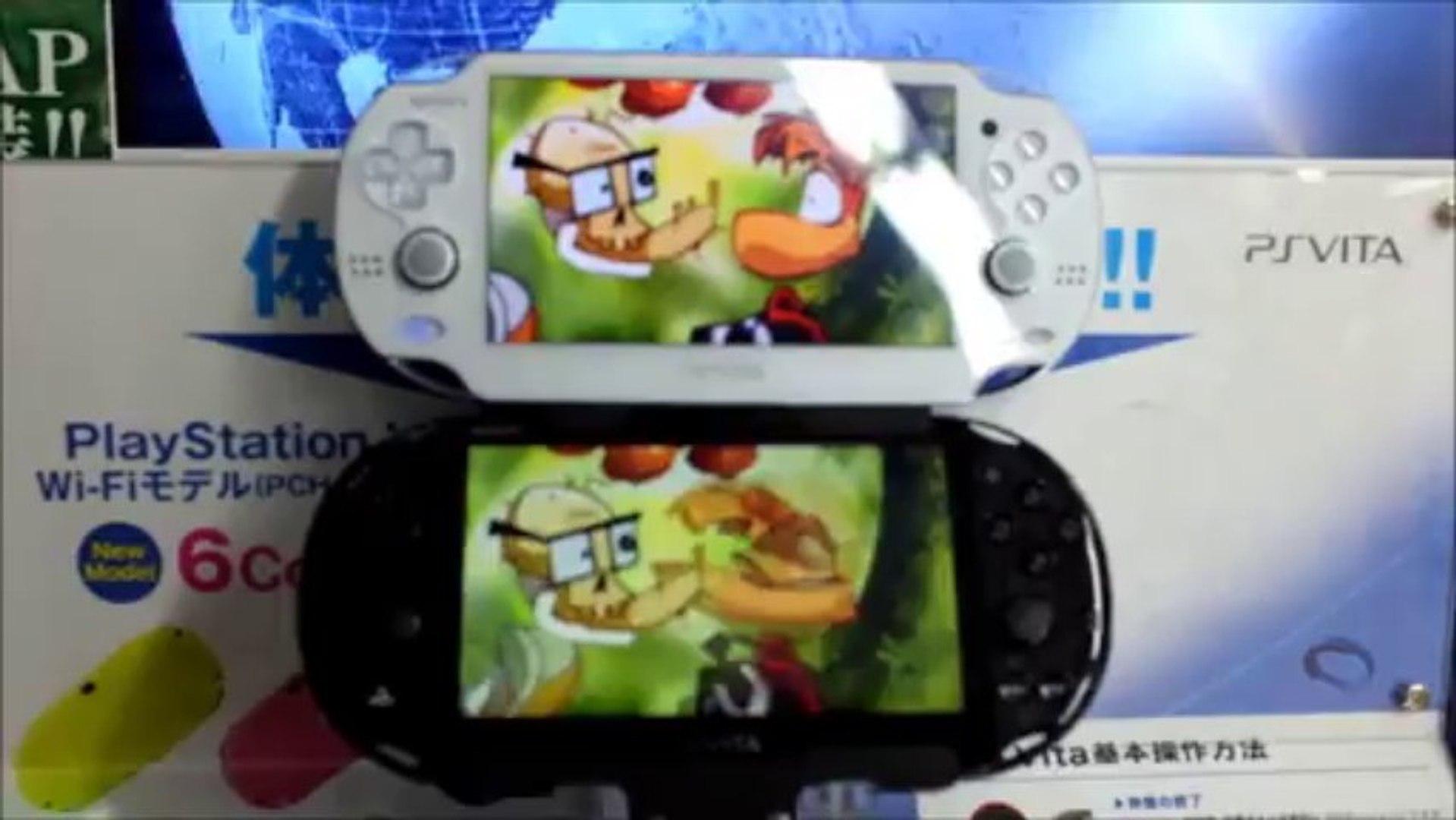 Screen Comparison Ps Vita 2000 Lcd Vs Ps Vita Oled Video Dailymotion