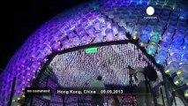 Hong Kong inaugure sa lanterne géante - no comment