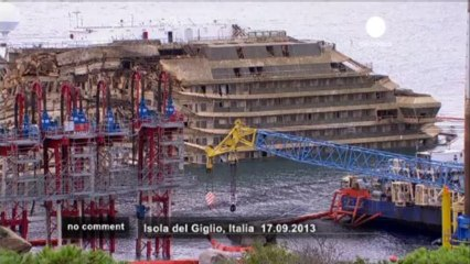 Time-lapse video of Costa Concordia salvage... - no comment