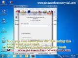 How to open password protected zip file without password - video